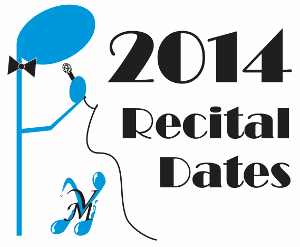 2014 Recital Dates