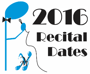 2016 Recital Dates